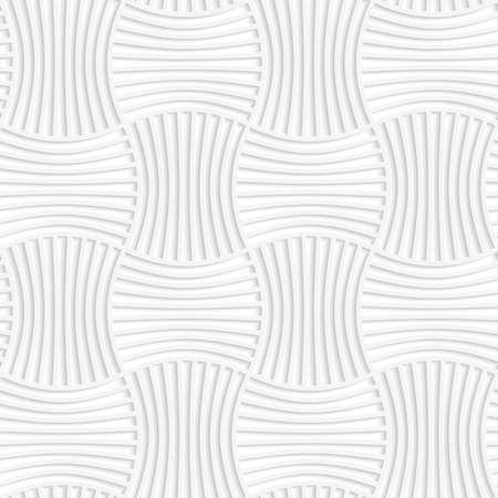 Livre blanc 3D de fond géométrique. Seamless avec des ombres réalistes et cinq broches ondulée découpés dans du papier papier effect.White 3D sera rayé des rectangles. Banque d'images - 41178491