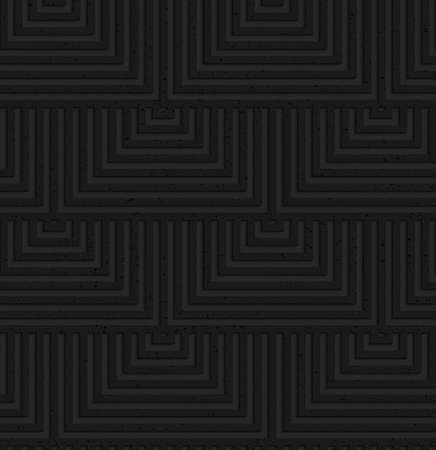 tillable: Seamless geometric background. Pattern with 3D texture and realistic shadow.Textured black plastic overlapping squares.
