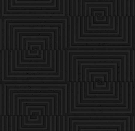 plastic texture: Seamless geometric background. Pattern with 3D texture and realistic shadow.Textured black plastic cut and shifted squares. Illustration
