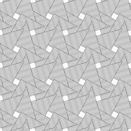 tillable: Gray seamless geometrical pattern. Simple monochrome texture. Abstract background.Slim gray wavy striped overlapping triangles. Illustration