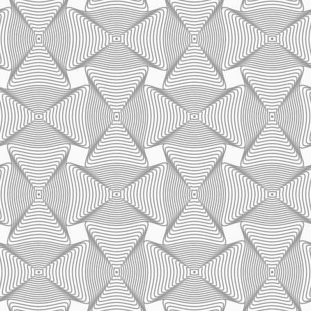 Grijs naadloos geometrisch patroon. Eenvoudige zwart-wit textuur. Abstract background.Slim grijs golvend rechthoeken met offset. Stock Illustratie