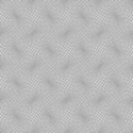 Gray seamless geometrical pattern. Simple monochrome texture. Abstract background.Slim gray wavy checkered texture.