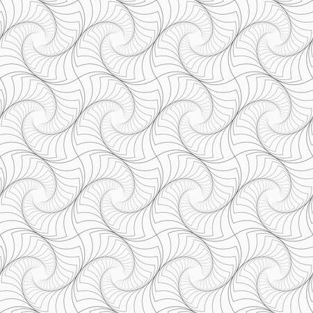 texture twisted: Gray seamless geometrical pattern. Simple monochrome texture. Abstract background.Slim gray striped twisted squares.