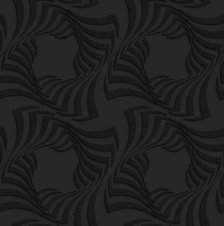 texture twisted: Seamless geometric background. Pattern with 3D texture and realistic shadow.Textured black plastic twisted big squares.