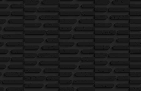 plastic texture: Seamless geometric background. Pattern with 3D texture and realistic shadow.Textured black plastic cut in half hexagons. Illustration
