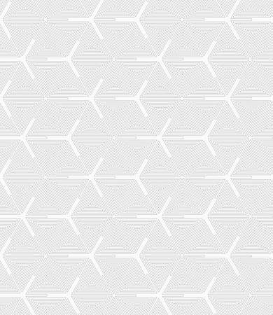 tillable: Gray seamless geometrical pattern. Simple monochrome texture. Abstract background.Slim gray triangle spirals forming texture.