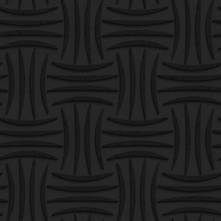 tillable: Seamless geometric background. Pattern with 3D texture and realistic shadow.Textured black plastic four stripes pin will.