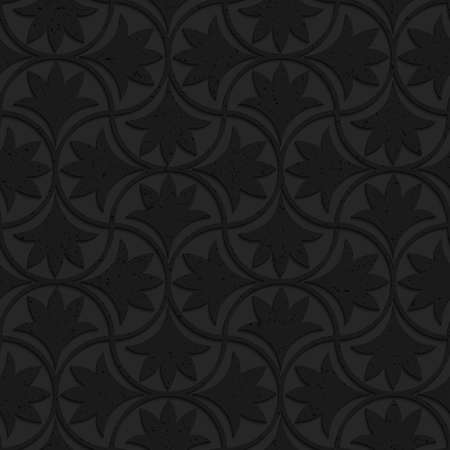 plastic texture: Seamless geometric background. Pattern with 3D texture and realistic shadow.Textured black plastic floral pin will.