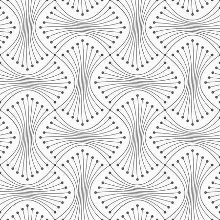 Grijs naadloos geometrisch patroon. Eenvoudige zwart-wit textuur. Abstracte achtergrond. Slanke grijze schoof met punten. Stock Illustratie