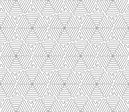 Gray seamless geometrical pattern. Simple monochrome texture. Abstract background.Slim gray connecting wavy triangles.