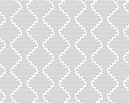 Gray seamless geometrical pattern. Simple monochrome texture. Abstract background.Slim gray connecting vertical diamond waves.