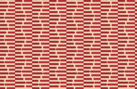 yellowish: Vintage colored simple seamless pattern. Background with paper fold and 3d realistic shadow.Retro fold red striped hexagons.