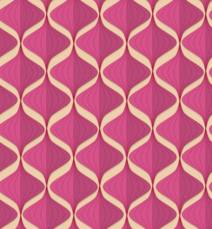 paper fold: Vintage colored simple seamless pattern. Background with paper fold and 3d realistic shadow.Retro fold magenta Chinese lanterns.