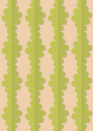 paper fold: Vintage colored simple seamless pattern. Background with paper fold and 3d realistic shadow.Retro fold green wavy diamonds. Illustration