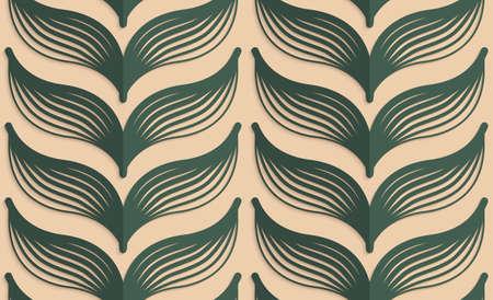 Vintage couleur simple, seamless. Arrière-plan avec pli de papier et 3d shadow.Retro réaliste plier des feuilles rayées vert profond. Banque d'images - 41178685