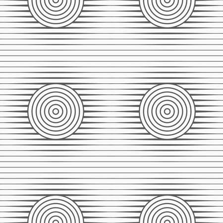 tillable: Gray seamless geometrical pattern. Simple monochrome texture. Abstract background.Slim gray offset circles on stripes.