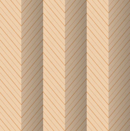 yellowish: Vintage colored simple seamless pattern. Background with paper fold and 3d realistic shadow.Retro fold yellowish striped zigzag. Illustration