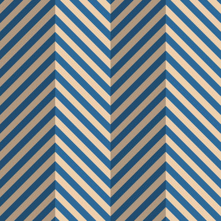 paper fold: Vintage colored simple seamless pattern. Background with paper fold and 3d realistic shadow.Retro fold blue striped zigzag. Illustration