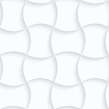 paper pin: Seamless 3D background. White quilling paper. Realistic shadow and cut out of paper effect. Geometrical pattern.Quilling paper pin will grid. Illustration