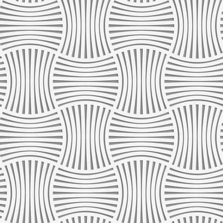 grid paper: Seamless geometric pattern .Realistic shadow creates 3D look. Light gray colors.Cut out paper effect.Perforated stripy grid. Illustration