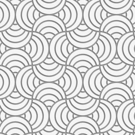Seamless géométrique .Realistic ombre crée regard 3D. Gris clair colors.Cut sur papier effect.Perforated rayé broche de cercle. Banque d'images - 41178795