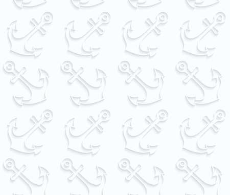 ritagliare: Seamless 3D. Carta quilling Bianco. Ombra realistico e tagliare fuori effetto carta. Ancore carta pattern.Quilling geometriche.
