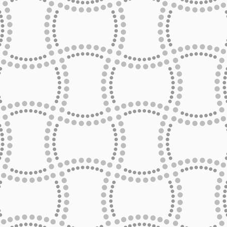 doubled: Abstract geometric background. Gray seamless pattern. Monochrome texture.Dotted doubled rectangles.