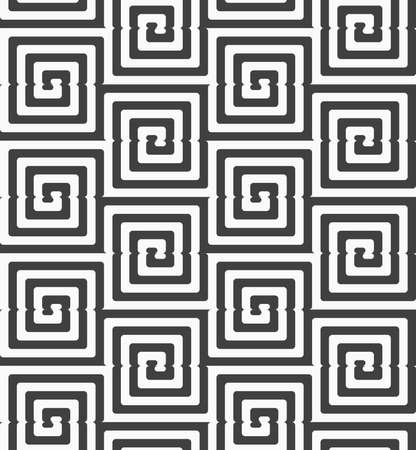 rounded squares: Geometric background with black and white stripes. Seamless monochrome  pattern with zebra effect.Alternating black and white cut rounded squares.