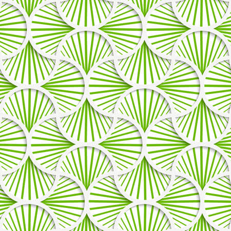 grid paper: Seamless geometric background. Pattern with realistic shadow and cut out of paper effect.3D green striped pin will grid. Illustration