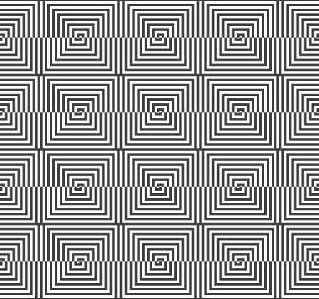 Geometric background with black and white stripes. Seamless monochrome  pattern with zebra effect.Alternating black and white half squares reflected.