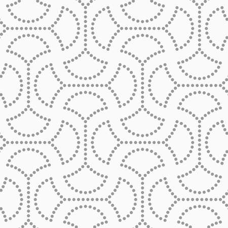 Abstract geometric background. Gray seamless pattern. Monochrome texture.Dotted circle pin will with connector.