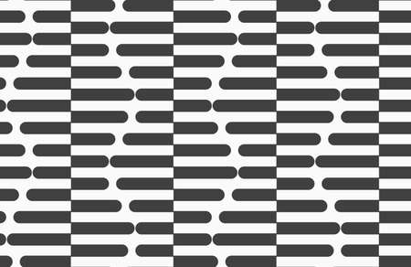 Geometric background with black and white stripes. Seamless monochrome  pattern with zebra effect.Alternating black and white cut in half hexagons.