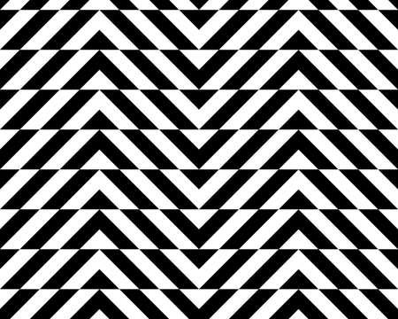 alternating: Black and white alternating chevron with horizontal cut.Seamless stylish geometric background. Modern abstract pattern. Flat monochrome design.