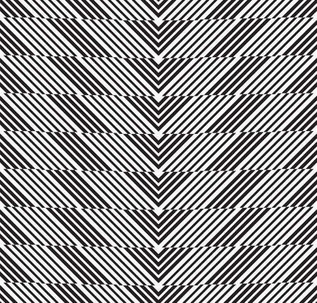 alternating: Black and white alternating chevron cut horizontally.Seamless stylish geometric background. Modern abstract pattern. Flat monochrome design.