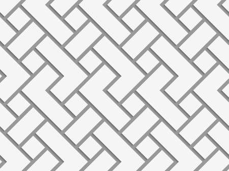 tile pattern: Perforated rectangular irregular grid.Seamless geometric background. Modern monochrome 3D texture. Pattern with realistic shadow and cut out of paper effect.