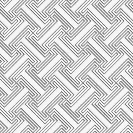 grid paper: Perforated T shapes grid with offset.Seamless geometric background. Modern monochrome 3D texture. Pattern with realistic shadow and cut out of paper effect. Illustration