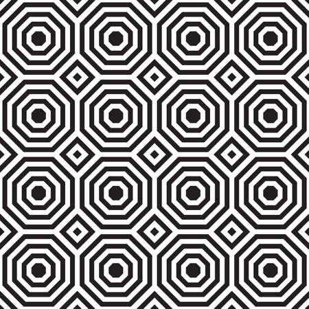 alternating: Oct�gonos alternas blancos y negros con squares.Seamless elegante fondo geom�trico. Modelo abstracto moderno. Dise�o monocrom�tico plana.