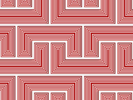 cut out paper: White 3D with colors red striped brackets.Abstract geometrical background. Pattern with cut out paper effect and realistic shadows.