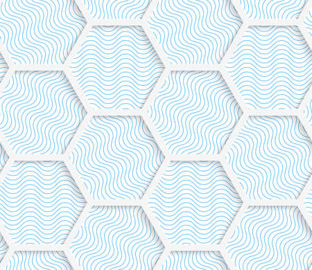 cut out paper: White 3D with colors hexagonal grid.Abstract geometrical background. Pattern with cut out paper effect and realistic shadows. Illustration