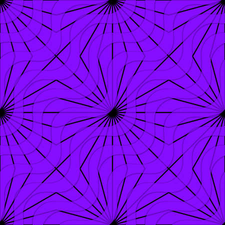 dimentional: Retro 3D purple waves and rays.Abstract layered pattern. Bright colored background with realistic shadow and thee dimentional effect. Illustration
