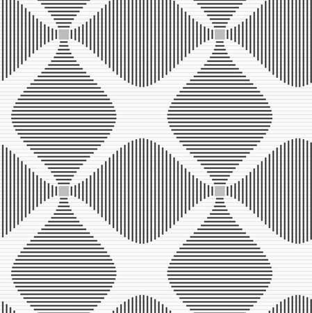 Shades of gray striped four foil.Seamless stylish geometric background. Modern abstract pattern. Flat monochrome design.