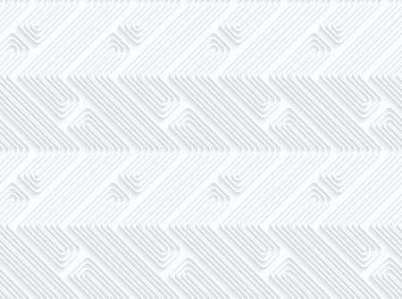 ritagliare: Quilling forme carta Z con offset.White sfondo geometrico. Seamless pattern. 3d tagliato di effetto carta con ombra realistico.