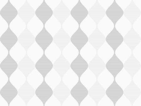 Shades of gray striped dark and light bulging waves.Seamless stylish geometric background. Modern abstract pattern. Flat monochrome design. Ilustração
