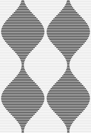 Shades of gray striped bulging waves merging.Seamless stylish geometric background. Modern abstract pattern. Flat monochrome design.