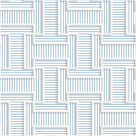 blue stripe: White 3D with colors T rounded shapes with blue.Abstract geometrical background. Pattern with cut out paper effect and realistic shadows.