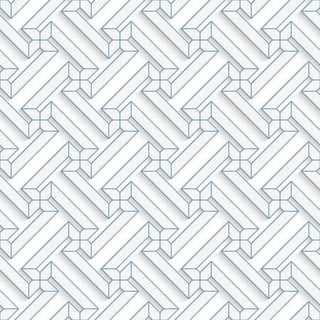 t background: White 3D with colors green contoured T shapes.Abstract geometrical background. Pattern with cut out paper effect and realistic shadows.