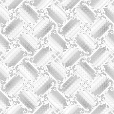 t background: Slim gray countered thick T shapes with offset.Seamless stylish geometric background. Modern abstract pattern. Flat monochrome design. Illustration