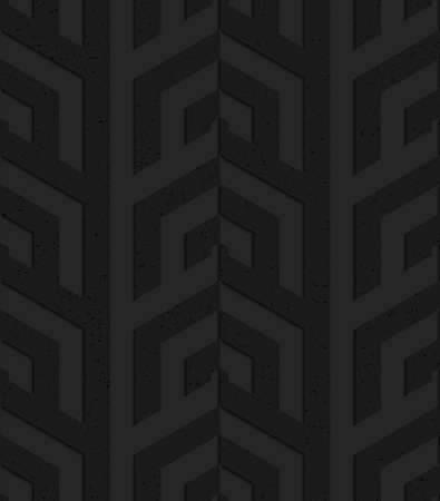 Black textured plastic corner grid.Seamless abstract geometrical pattern with 3d effect. Background with realistic shadows and layering. Banco de Imagens - 46321685