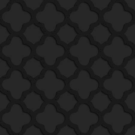 rounded squares: Black textured plastic rounded squares grid.Seamless abstract geometrical pattern with 3d effect. Background with realistic shadows and layering.