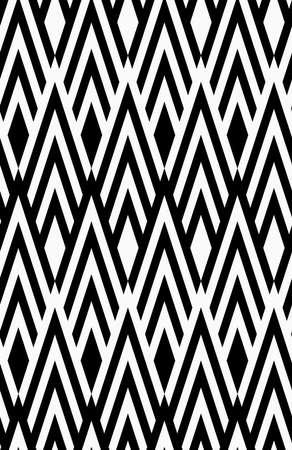 tillable: Black and white striped slim diamonds.Seamless stylish geometric background. Modern abstract pattern. Flat monochrome design.